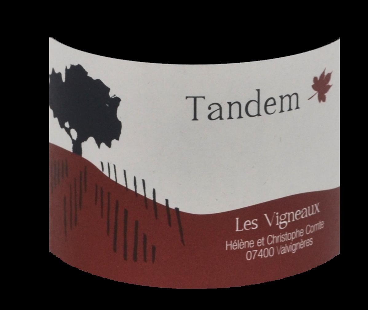 Tandem - 2016 - étiquette - Domaine des Vigneaux - Hélène et Christophe Comte