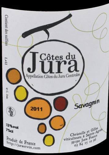 étiquette Côtes du Jura - Gilles Wicky