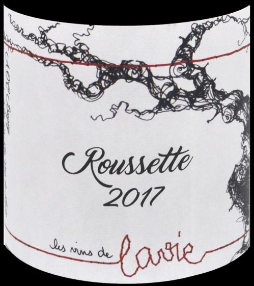 étiquette Roussette - Domaine Guillaume Lavie