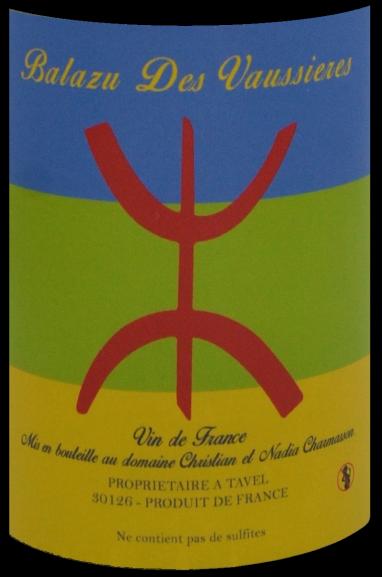 étiquette Solaire - Domaine Balazu Des Vaussières