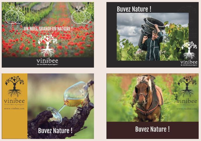 Nos cartes cadeaux - vin bio et vin naturel - Vinibee